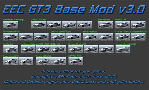 best free game mod center download release eec gt3 base mod v3 0 31 01 15 updated 09 01