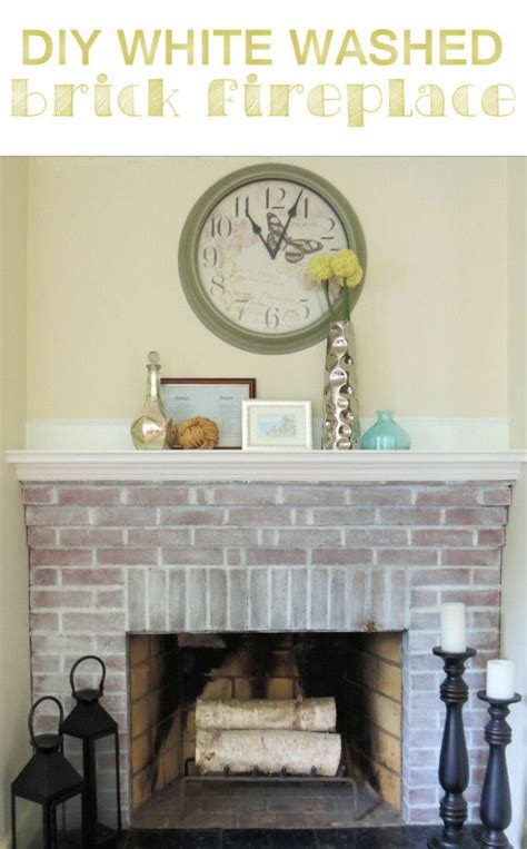 painted brick fireplace  power  whitewash painted