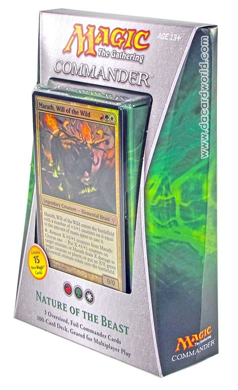 magic commander decks magic the gathering commander deck 2013 nature of the beast