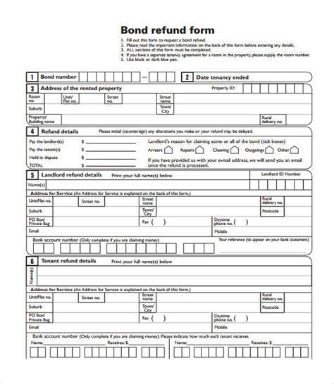 bond receipt template nz bond refunding template