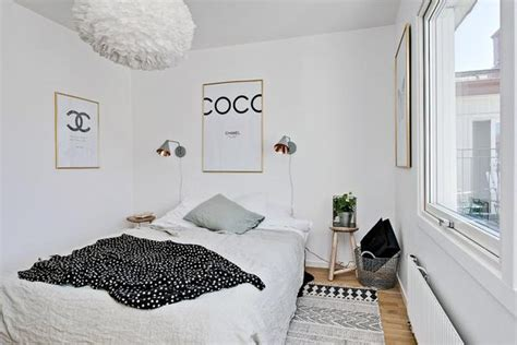 Bedroom Wall Ideas For Small Rooms Black White Decorating Ideas In Scandinavian Style To Make