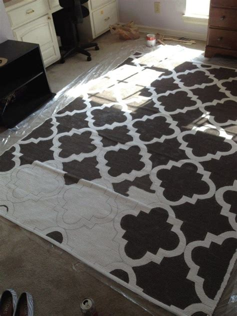 Painting An Area Rug 126 Best Images About Flooring Ideas On Pinterest Painted Floorboards Stained Concrete And