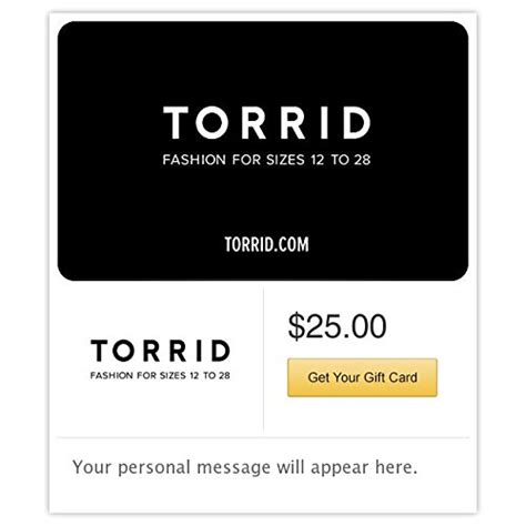 Torrid Gift Card - 10 top grossing products in gift cards 25 off and free shipping on every order