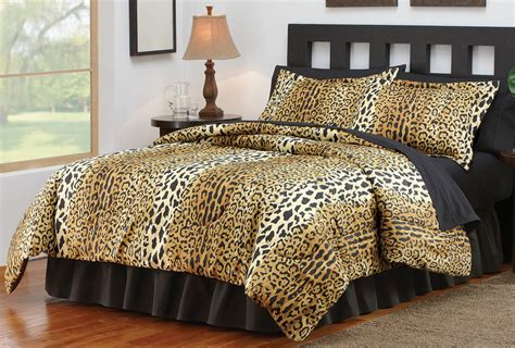 cheetah print bedroom comforter set 4 pc by collections