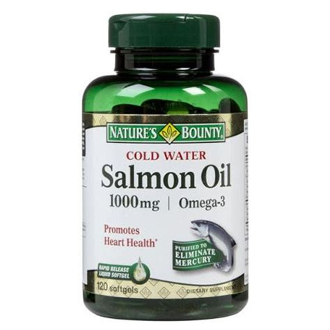 Natures Bounty Salmon 1000mg Isi120 Nature S Bounty Salmon 1000mg India Proteinsstore