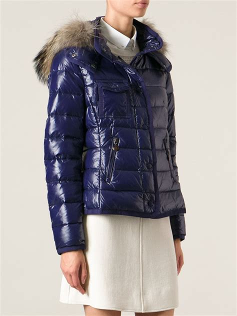 Blue Padded Sweater Dress Size Ml lyst moncler armoise padded jacket in blue