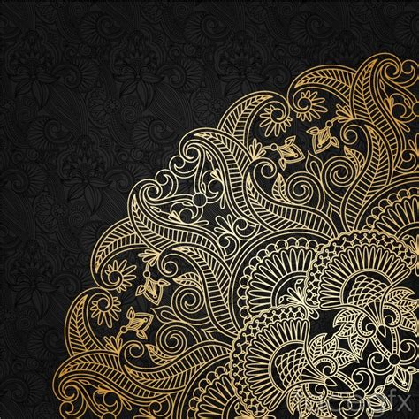 gold pattern background vector exquisite gold pattern vector background over millions