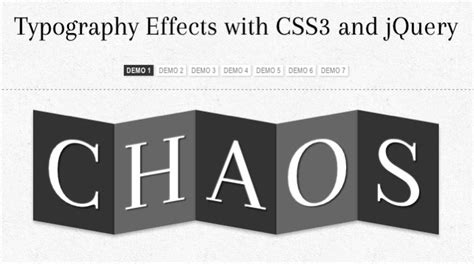 css3 typography typography effects with css3