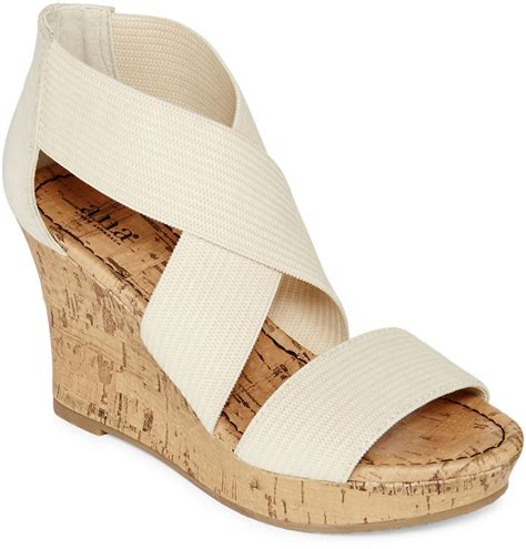 jcpenney a n a a n a sammy strappy wedge sandals shopstyle