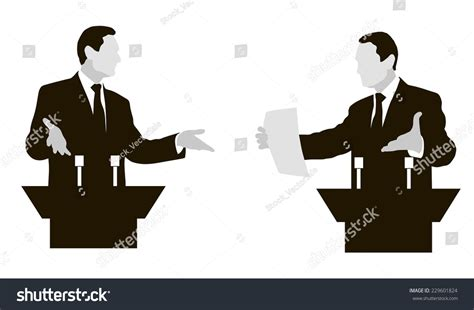 the debate on black debate two speakers controversy disputes negotiations stock vector 229601824 shutterstock