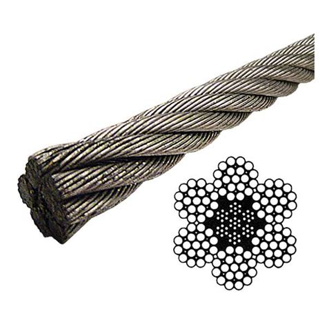 3 8 wire rope strength galvanized wire rope eips iwrc 6x19 class 7 8 quot lineal foot