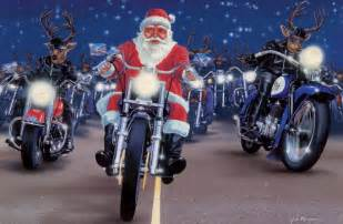 motoblogn santa rides a motorcycle christmas card collection
