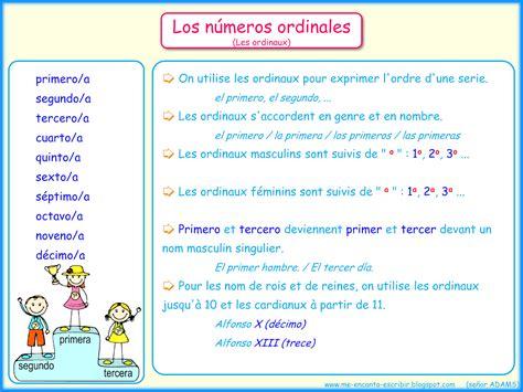 los numeros me encanta escribir en espa 241 ol los n 250 meros ordinales matem 225 ticas spanish