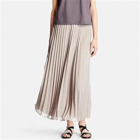 Pleated Chiffon Skirt chiffon pleated skirt uniqlo us