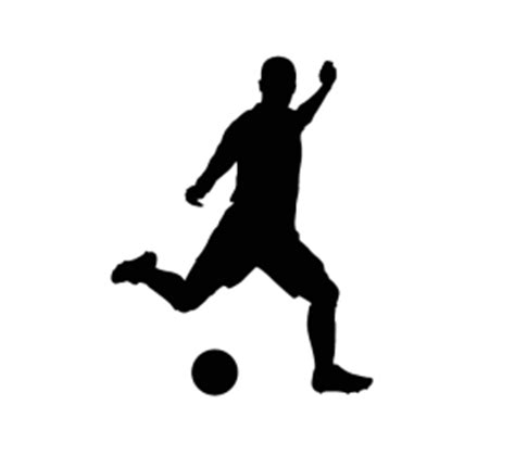 Tree Silhouette Wall Sticker soccer player 1 wall decal