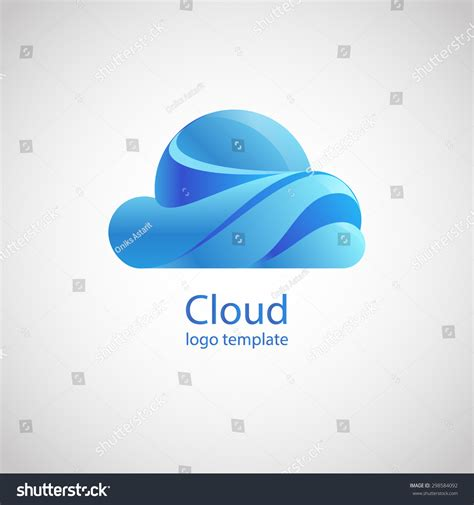 design logo upload image cloud vector logo design template upload download trendy