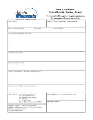 incident after report template edit fill out