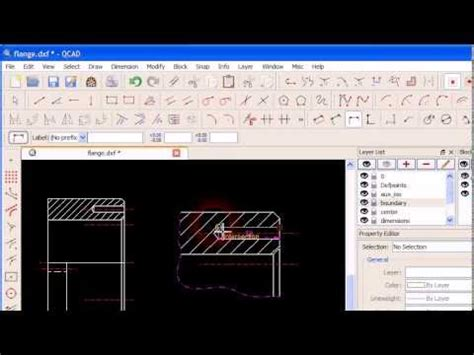 tutorial qcad youtube qcad tutorial q e creation of a quot detail view quot youtube
