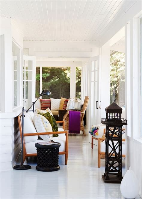 white painted floors transitional deckpatio