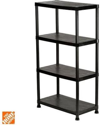 plastic storage shelving unit summer sale 4 shelf 15 in d x 28 in w x 52 in h black