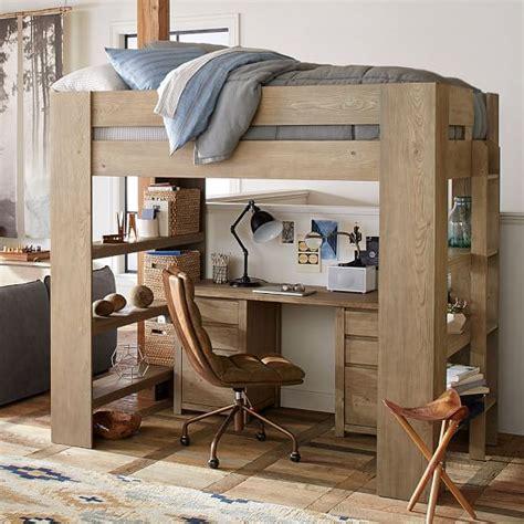 loft bedroom set costa loft bed dresser set pbteen
