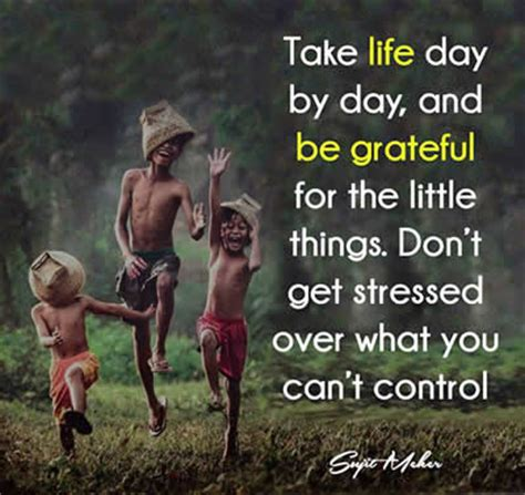 Take Life Day By Day And Be Grateful For The Little Things - take life day by day and be grateful inspirational