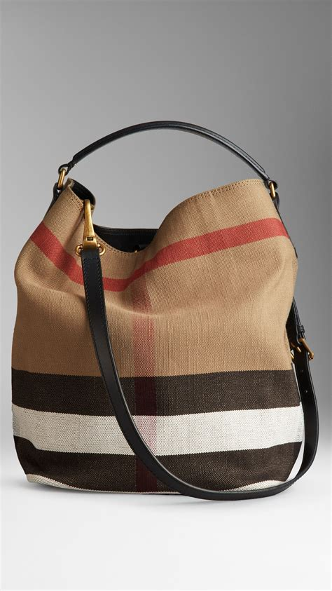 Burberry Check Canvas Hobo Bag Bliss by S Handbags Purses Hobo Bags Canvases And Check