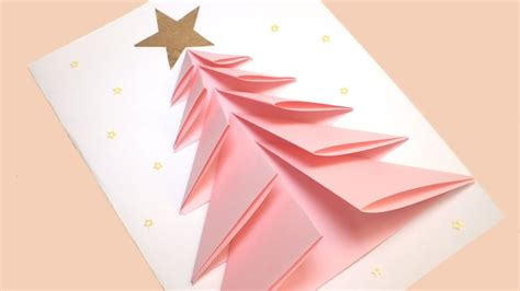 diy christmas tree card greeting card youtube