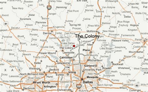 the colony texas map the colony location guide