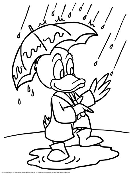 coloring page rainy day rainy day coloring pages to download and print for free
