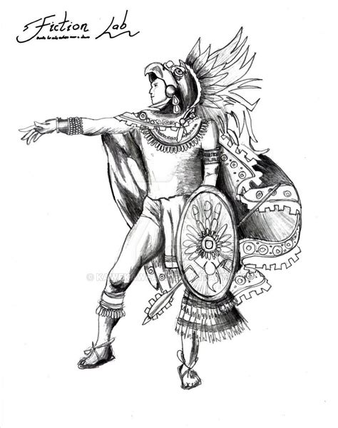 Viva Mexico Eagle Warrior By Kawekaweau On Deviantart Aztec Warrior Sketches