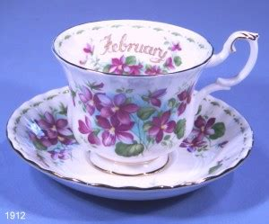 Dinner Set Flower Series 16 S royal albert february bone china tea cup and saucer