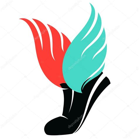 sport shoes vector sport shoes sign with wings stock vector 169 svsunny 67871967