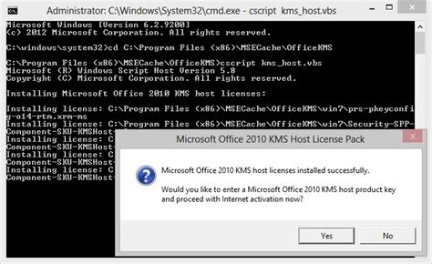 install windows 10 key on kms server how to install the office 2010 kms host license pack on