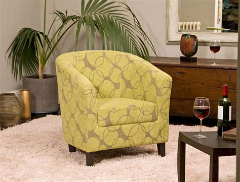 grey patterned tub chair fabric armchair tubchair accent occasional chair fireside