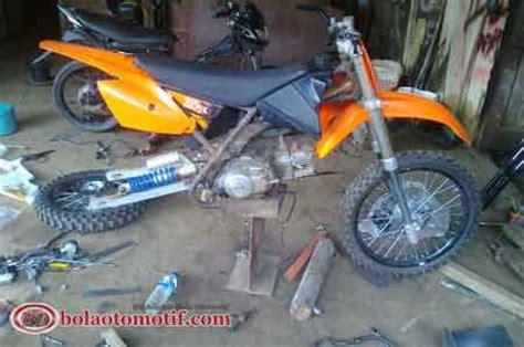 Rangka Ktm 85 Made In Thailand modif yamaha crypton 1997 1999 menjadi motor