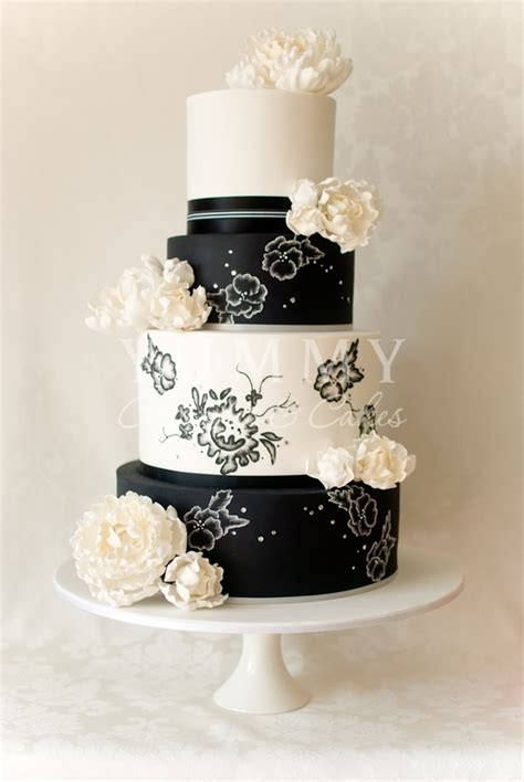 Black Wedding Cake Flowers by My Wedding 187 Black And White Wedding Cakes Pictures