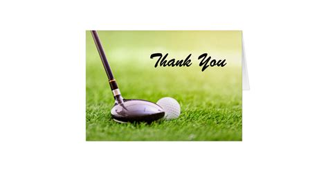 Golf Thank You Card Template thank you note card golf birthday zazzle