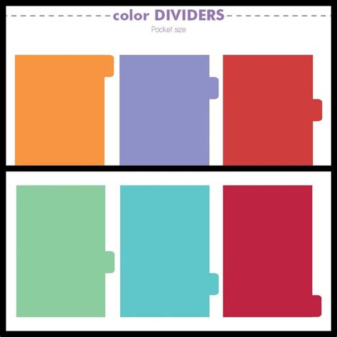 Printable Pocket Organizer | free printables plain dividers for planners pocket