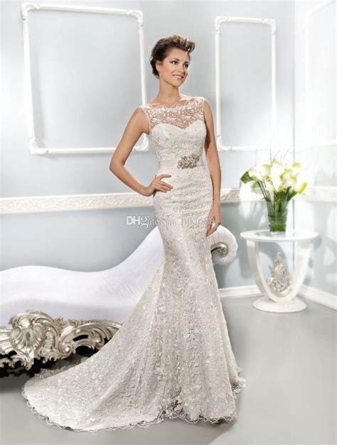 2014 Collection Best Selling Illusion Neckline Covered
