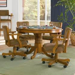 Mitchell 5 pcs set game table and 4 chairs coaster co