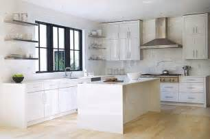 Kitchen Cabinets White White Lacquered Kitchen Cabinets Modern Kitchen