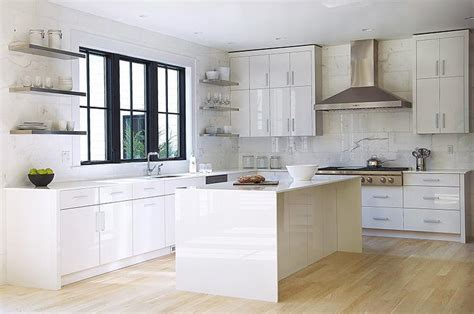 pictures of kitchen with white cabinets white lacquered kitchen cabinets modern kitchen