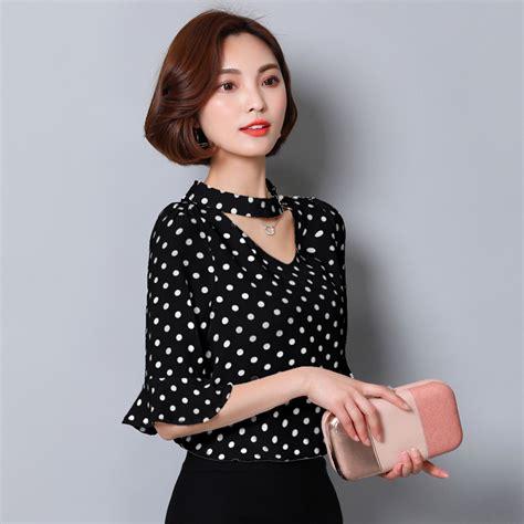 Blouse Polka womens black and white polka dot blouse clothing