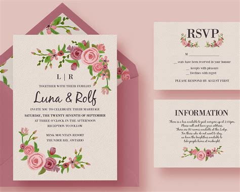 wedding invitations layout design