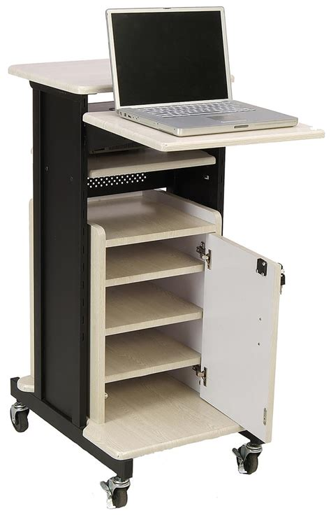 cart with locking cabinet computer presentation cart locking cabinet adjustable
