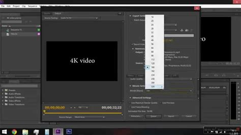 adobe premiere cs6 render settings adobe premiere pro cs6 4k video sequence and render