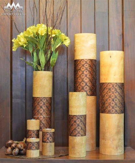 floreros rusticos de madera florero mango de madera natural color dise 241 o estuco