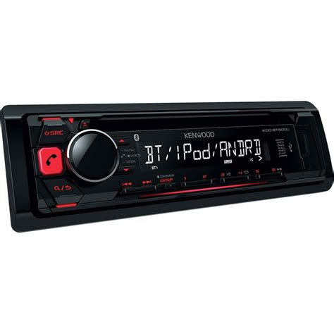 car stereo with usb kenwood kdcbt500u cd car stereo with bluetooth usb aux
