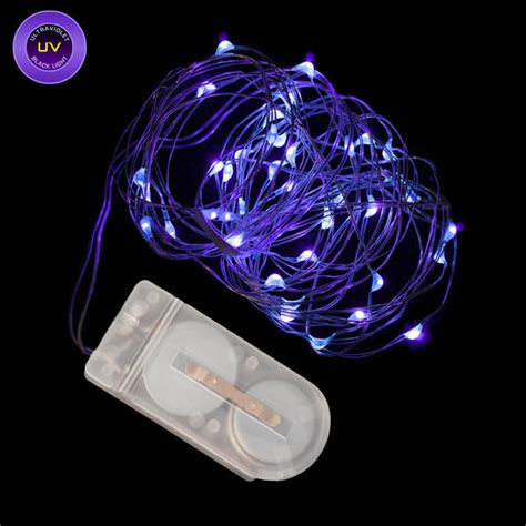 blacklight led string lights 40 micro led uv black light submersible string light